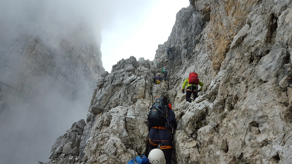 Klettersteige Sella und Brenta